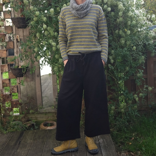 Women's Soft Silk & Wool Blend Culottes