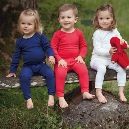 Baby Leggings in Superfine Merino Wool