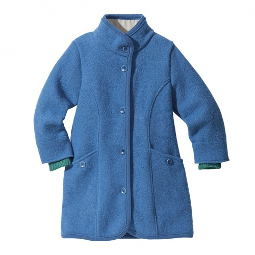Girl's Coat in Boiled Organic Merino Wool