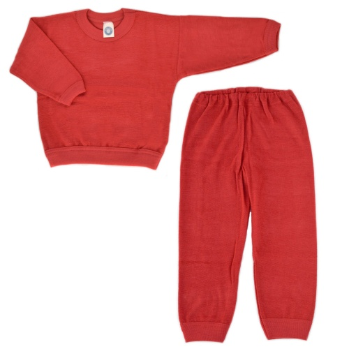 Organic Children's Pyjamas in Merino Wool Terry