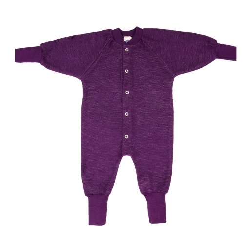All-In-One Pyjamas Without Feet in Organic Merino Wool Terry