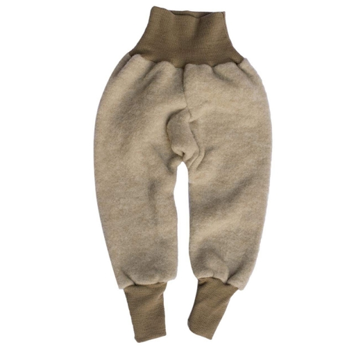 Warm Baby Pants in Merino Wool & Organic Cotton Fleece