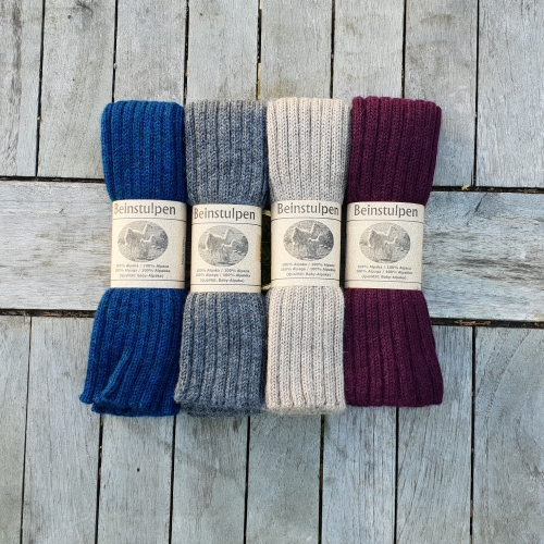 Adult's Ribbed Legwarmers in Pure Baby Alpaca
