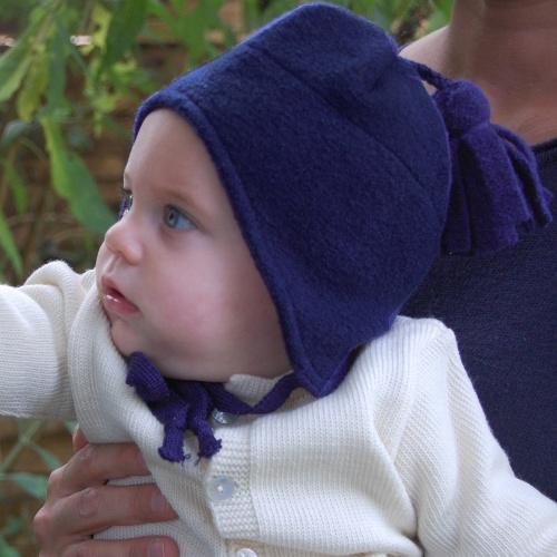 Winter Tassel Hat in Boiled Organic Merino Wool by Disana a3a1c703082