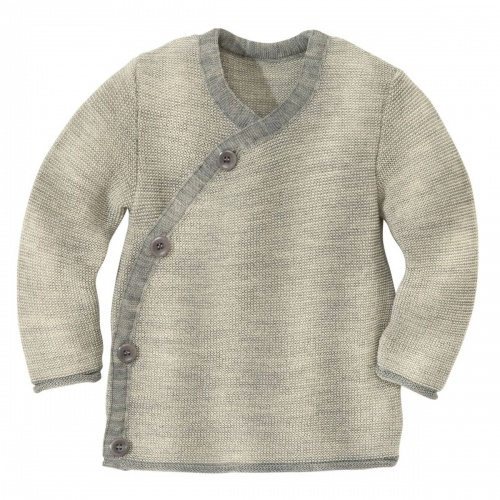 Wrap Baby Cardigan in Pure Organic Merino Wool