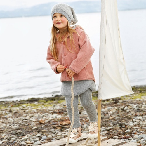 Child's Sturdy Wool Coat by Disana