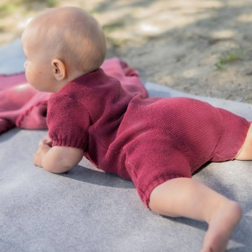 Short Romper in Organic Merino Wool