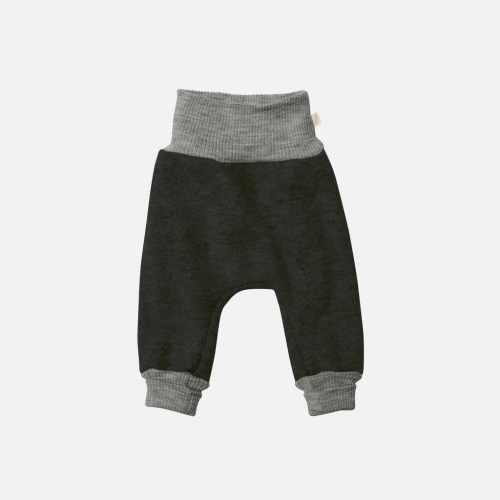 Organic Boiled Wool Baby Pants With Cuffs