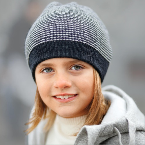 Child's Beanie Hat in Organic Merino Wool