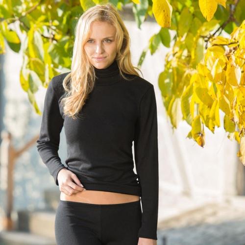 9bfbdd29bb1e Wool/Silk Polo Neck Vest for Women | Organic Merino Wool [704410 ...