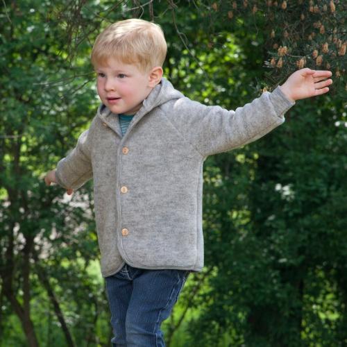 309812147 Angel Baby Jacket in Merino Wool Fleece
