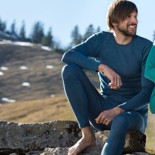 Men's Long Johns in Pure Organic Merino Wool
