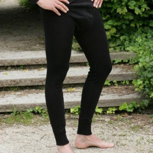 Men S Long Johns In Merino Wool And Silk Underlayer For