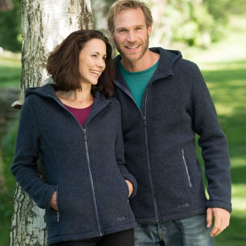Women's Merino Wool Fleece Hooded Jacket