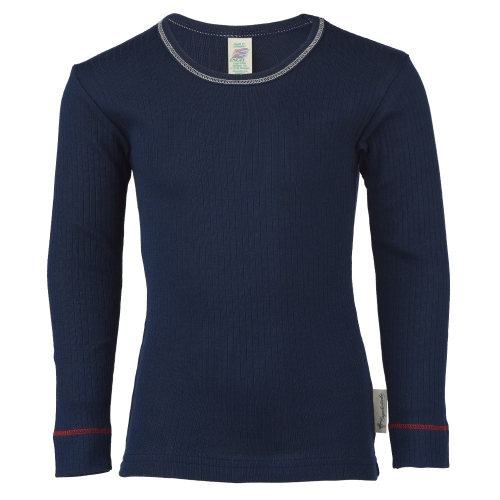 Ribbed Organic Cotton Long-Sleeved T-Shirt