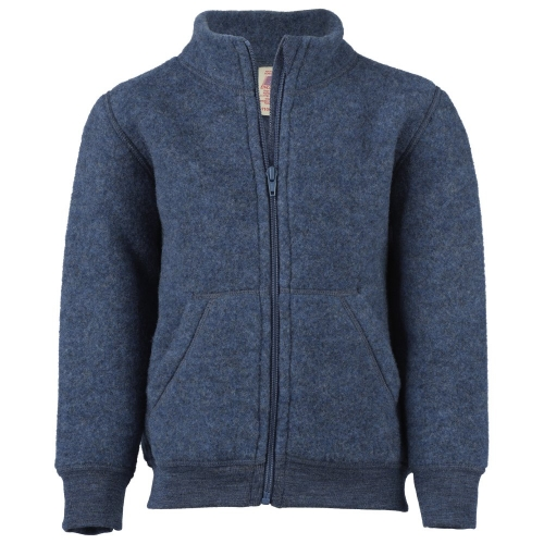 Children S Fleece Jacket With Zipper In Organic Merino Wool 575500 Or 575501 65 00 Cambridge Baby Organic Natural Clothing