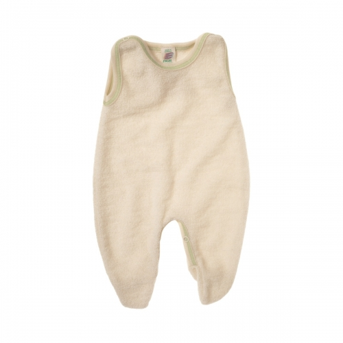 Premature Baby Romper with Feet in Organic Cotton Terry