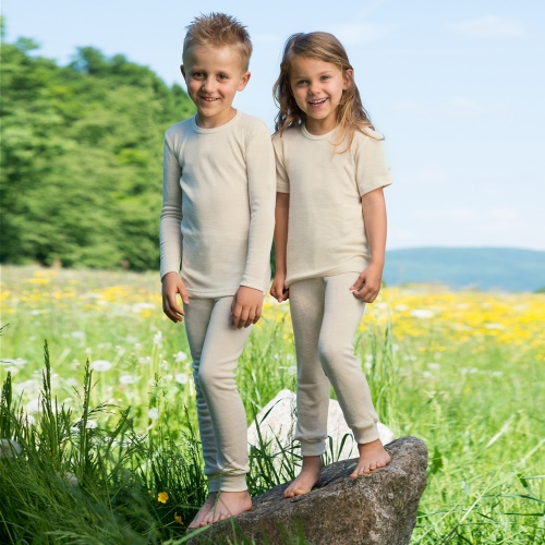 Children's Long Johns in Merino Wool Silk Blend