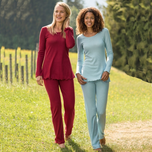 Women's Pyjamas in Merino Wool and Silk