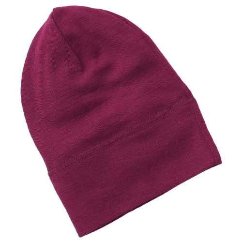 Fine Rib Organic Wool and Silk Beanie