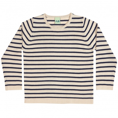 Simple Striped Danish Merino Wool Top