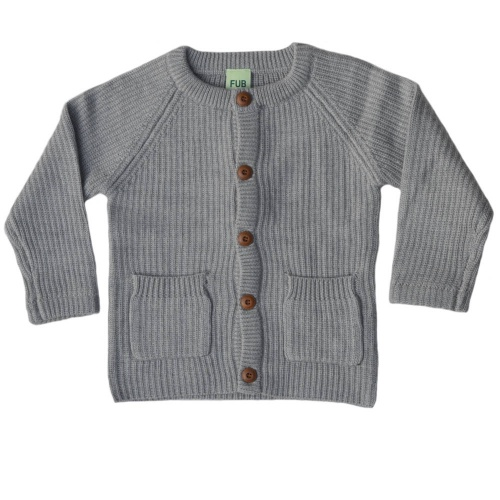 Merino Wool Rib Cardigan by FUB