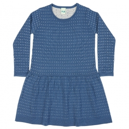 Dot Jacquard Dress in Pure Merino Wool by FUB