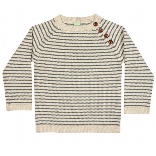 Stripy Child's Sweater in Merino Wool