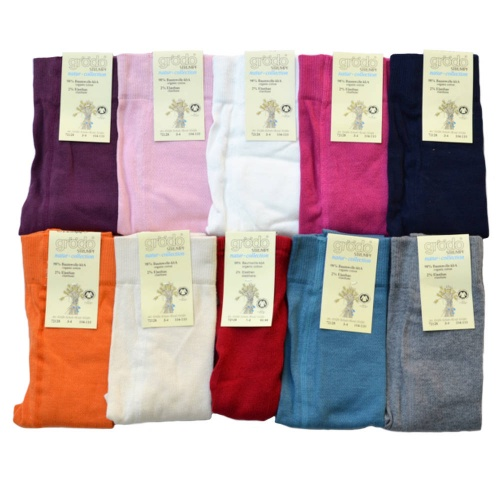 Children's Plain Tights in Organic Cotton