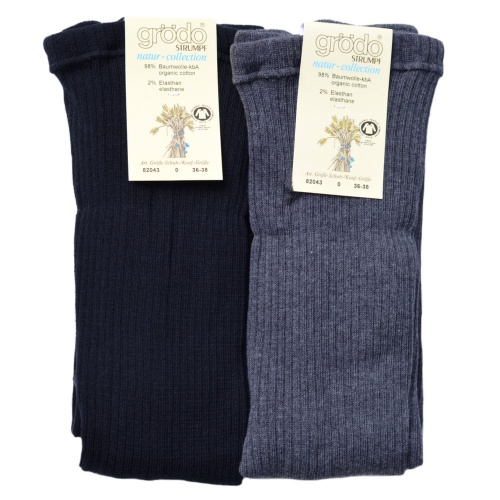 Women's Ribbed Tights in Organic Cotton
