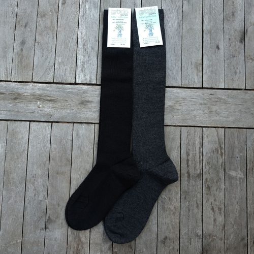 Adult's Machine Washable Organic Wool & Cotton Knee Socks
