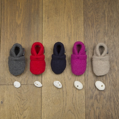 Baby Shoes in Natural Boiled Wool