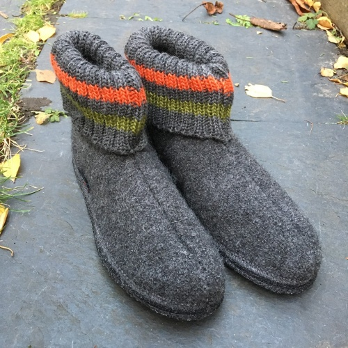 Adult's Slippers in Boiled Wool by Haflinger