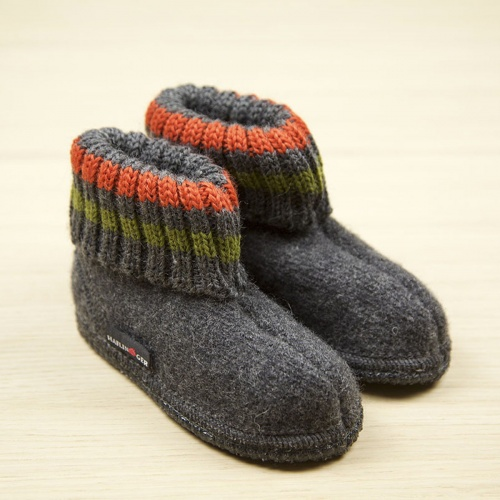 Boiled Wool Children's Slippers by Haflinger