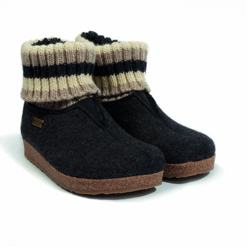 Adult's Felted Wool Slipper With Cuff