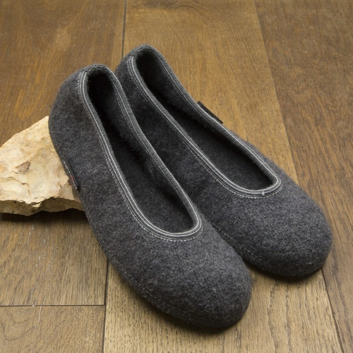 Marina Slippers in Boiled Wool