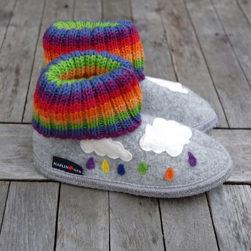 Boiled Wool Children's Colourful Slipper