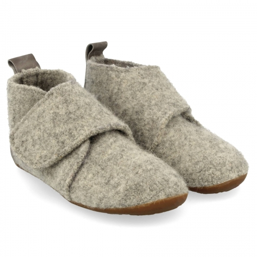 Boiled Wool Children's Bello Slipper with Rubber Sole
