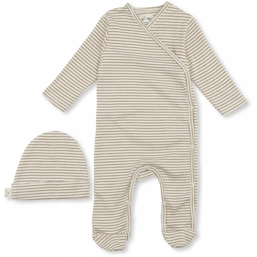 Dio Newborn Sleepsuit and Hat Set in Organic Cotton