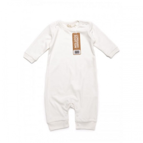 Long Sleeve Playsuit in Fairtrade Organic Cotton