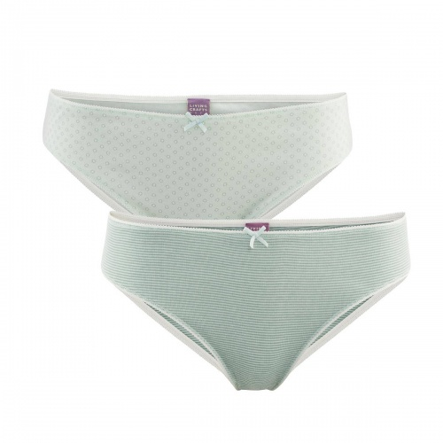 2-Pack of Women's Mini Briefs in Organic Cotton