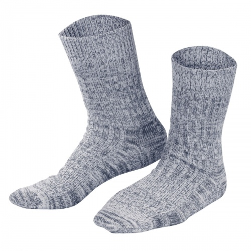 Adult's Thermal Ribbed Socks In Wool and Cotton
