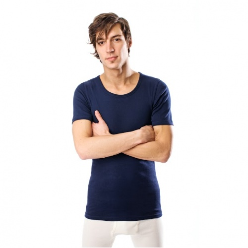 Men's Short-Sleeved Vest in Organic Cotton