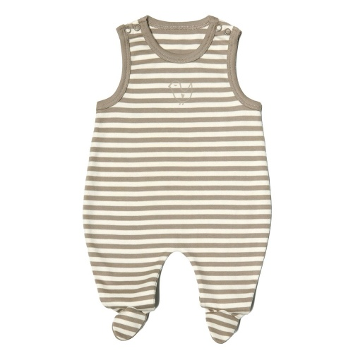 Stripy Romper with Feet in Organic Cotton