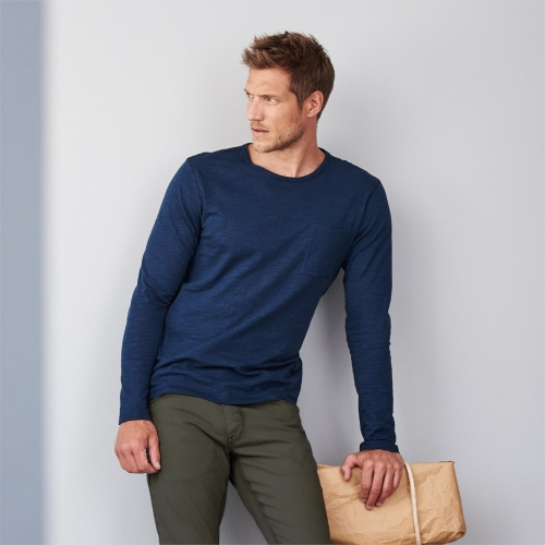 Men's Long Sleeved Top in Organic Cotton