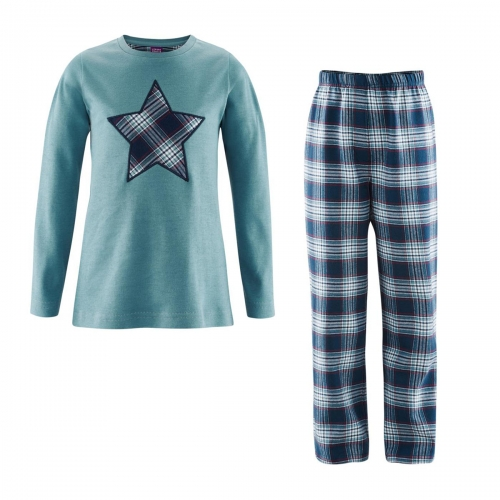 968ea94e71 Children's Star Pyjamas In organic Cotton Flannel & Jersey [83105 ...