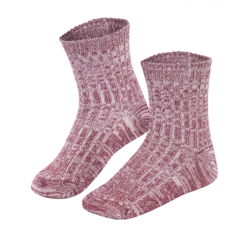 Children's Thermal Ribbed Socks In Wool and Cotton