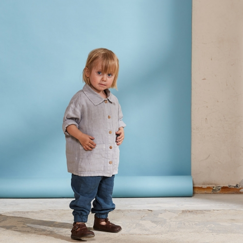 Porter Workshirt in Organic Linen
