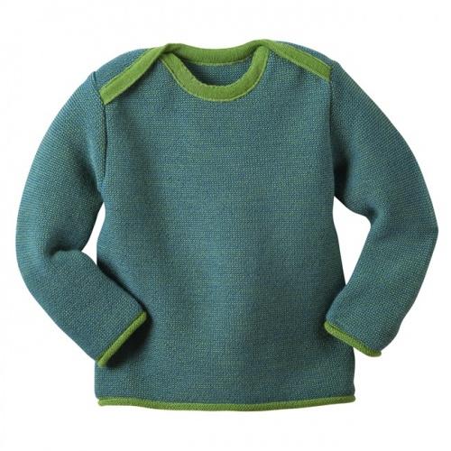 112221724 Baby Jumper in Organic Merino Wool Melange