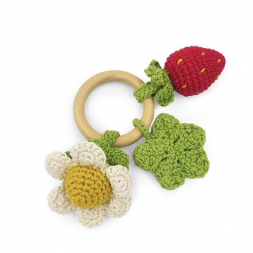 Seasonal Hand Crocheted Teether and Rattle